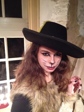 geschminkt als gemene kat